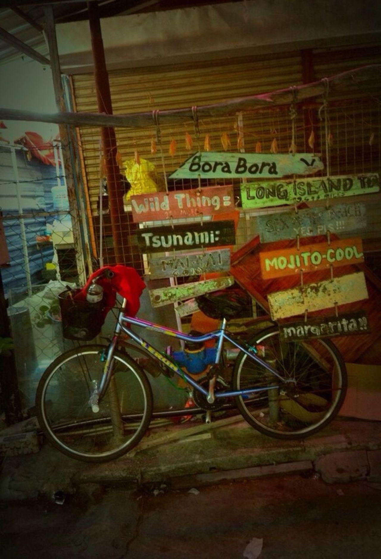 Bicycle Taking Photos Hanging Out At Batu Ferringgi In Penang,Malaysia