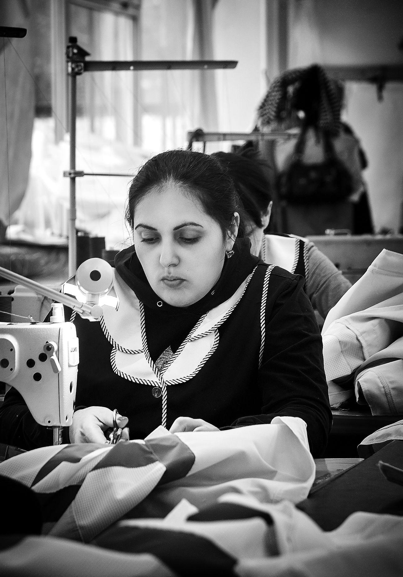 Portrait Russia Blackandwhitephotography Bw_collection Black&white Black And White Photography Blackandwhite Photography Blackandwhite Black & White Black And White Sewing Machine Women Fashion Designer Working