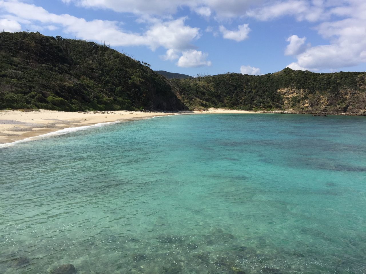 Sea Beach Nature Sky Scenics Water Beauty In Nature Sand Outdoors Idyllic Day Tree No People Tranquility Cloud - Sky Turquoise Winter Sea Amami Island