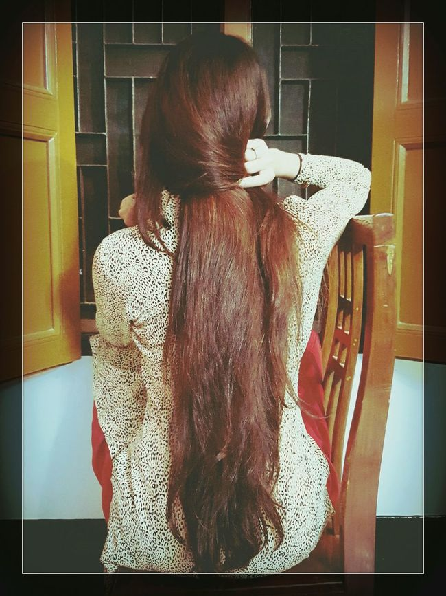 My long hair Lifestyles Waist Up Portrait Hair Glamour Bangali Woman Long Hair Fashion Desi Natural Beauty HealthyHair Red Nodyes
