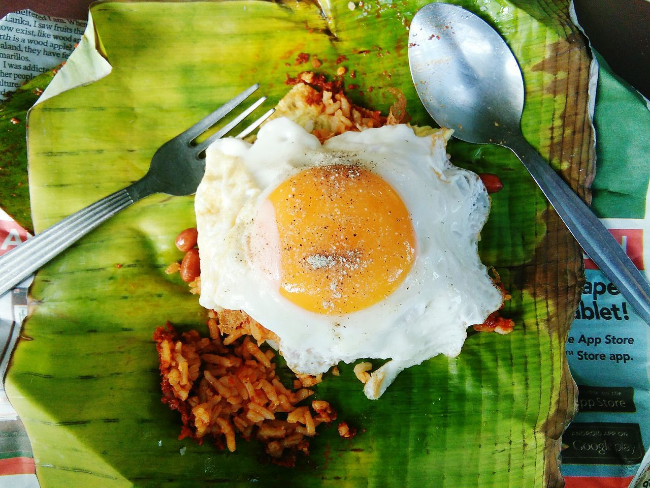 Satisfied Malaysian Craving Egg Egg Yolk Food Healthy Eating Food And Drink Fried Egg Sunny Side Up Egg White No People Freshness Close-up Ready-to-eat Day Outdoors FoodProject Food Photography Foodphotography Food And Drink Food Porn Awards Foodilicious Nasi Lemak Sambalbelacan Telurmata Mamakrestaurant Breakfast ♥