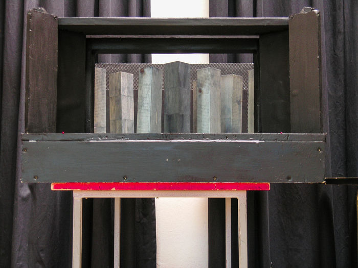 Architecture Black Red Model No People Project Scene Scenic Project Structure Theater Wood - Material