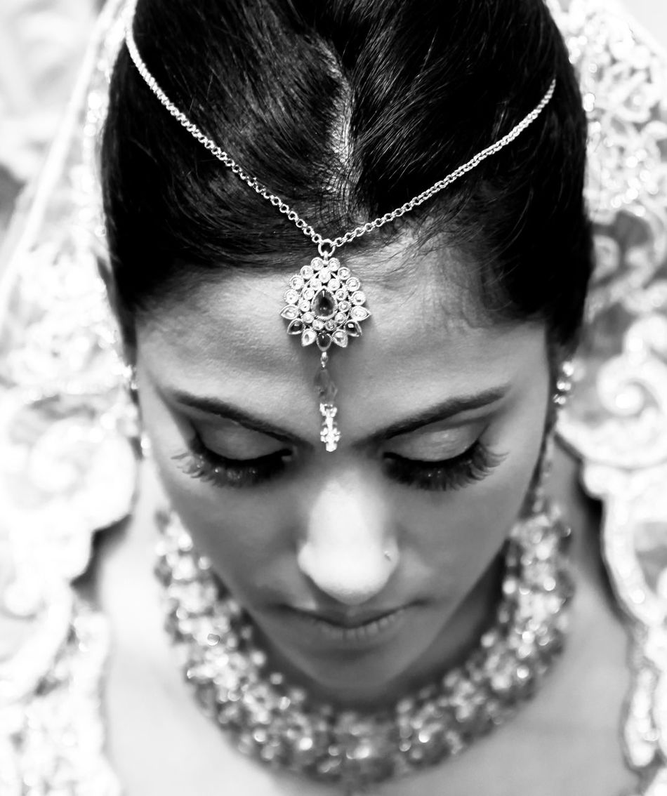 Wedding Wedding Photography Indian Indian Wedding Bride Woman Female Portrait Blackandwhite Jewellery A Bird's Eye View Selective Focus Focus On Foreground Headshot Romantic EyeEm Fine Art Photography Eyelashes Monochrome Photography