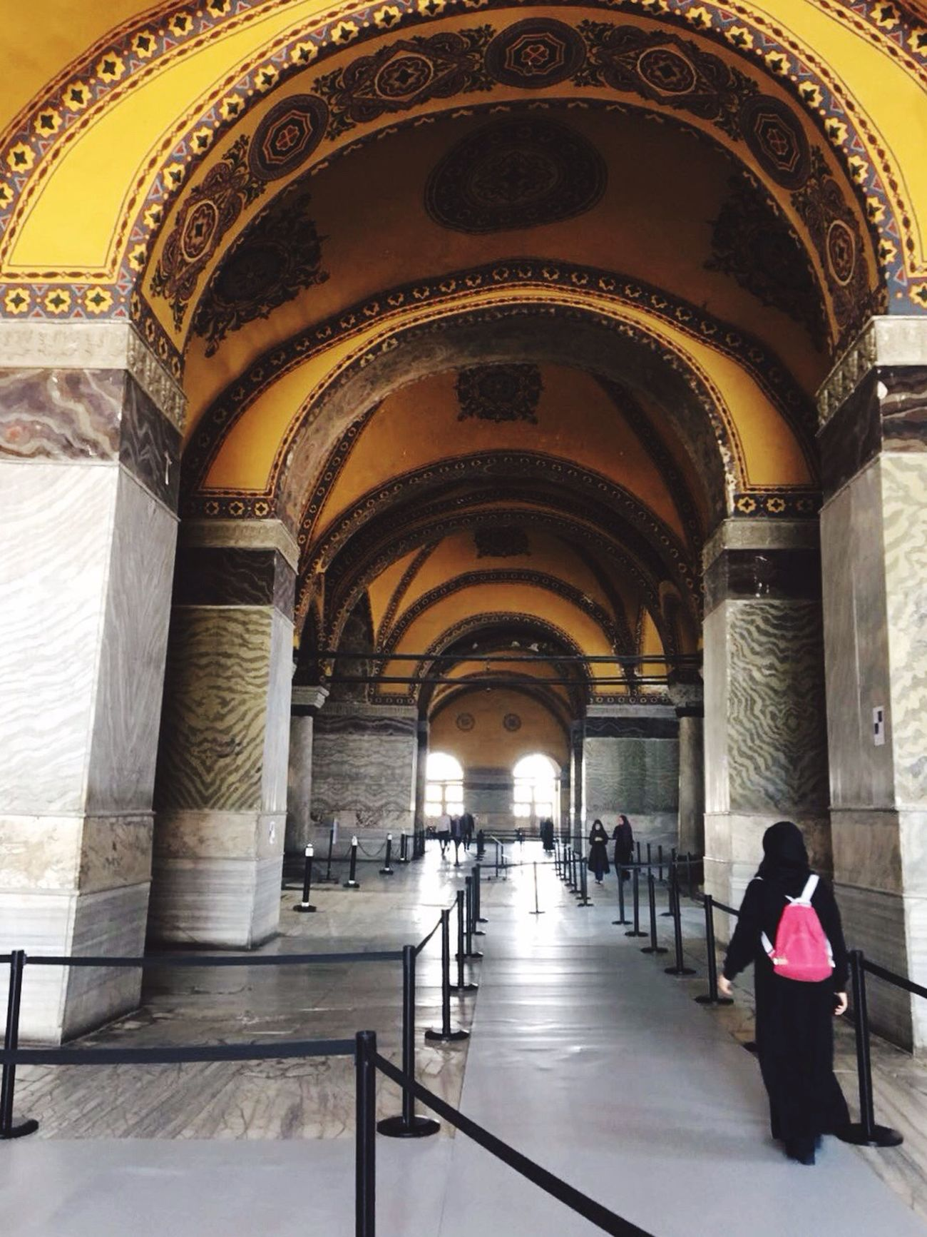 Arch Built Structure Architecture Real People Indoors  Architectural Column Travel Destinations Day One Person Ayasofya (Hagia Sophia) Istanbul Tarihieser Tarihimekan Sultanahmet Tarihiyarimada