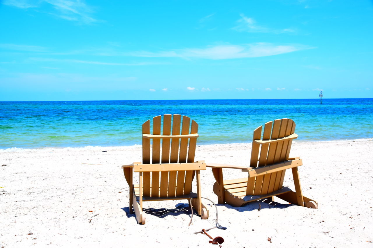 Beautiful stock photos of miami,  Beach,  Beauty In Nature,  Blue,  Chair