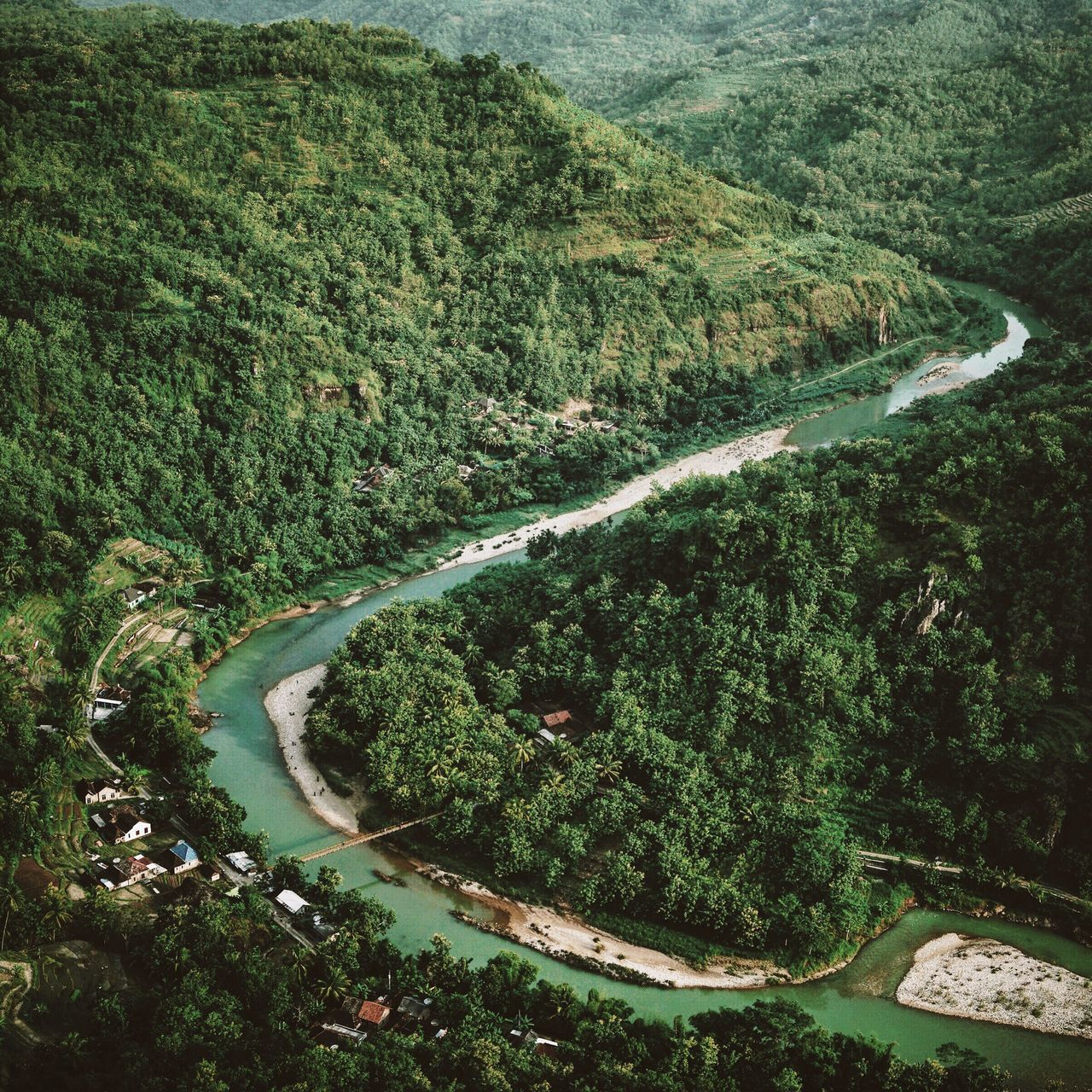 Jogja's landscapes 🏞 Landscape Landscape_Collection Landscape_photography Landscapes With WhiteWall The Great Outdoors With Adobe Forest Tropical River Green Curves Village Nature View View From Above INDONESIA Java Traveling The Great Outdoors - 2016 EyeEm Awards Color Palette A Bird's Eye View
