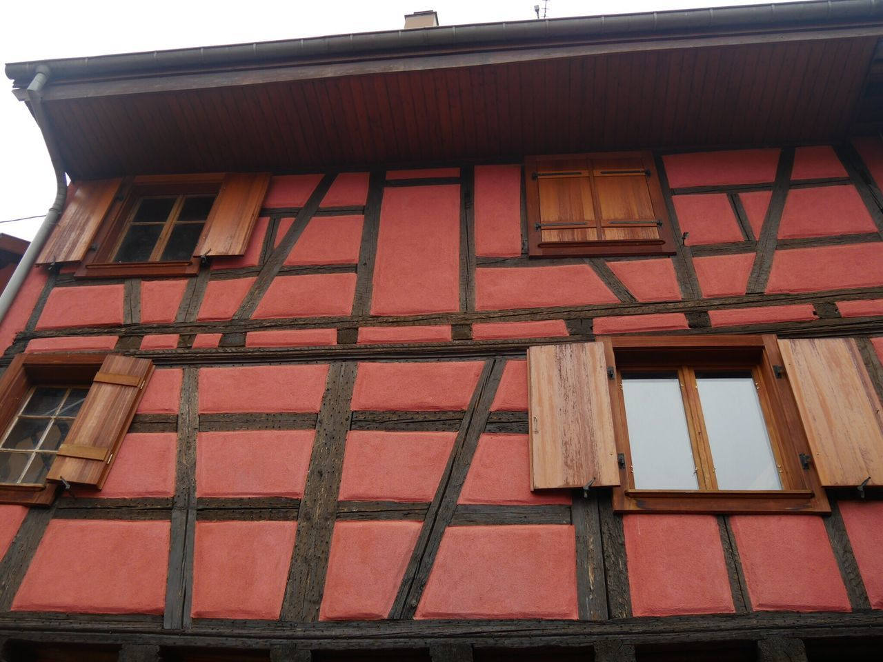 Eguisheim Alsace France Half-timbered House Built Structure Architecture Building Exterior Low Angle View No People House Outdoors Day