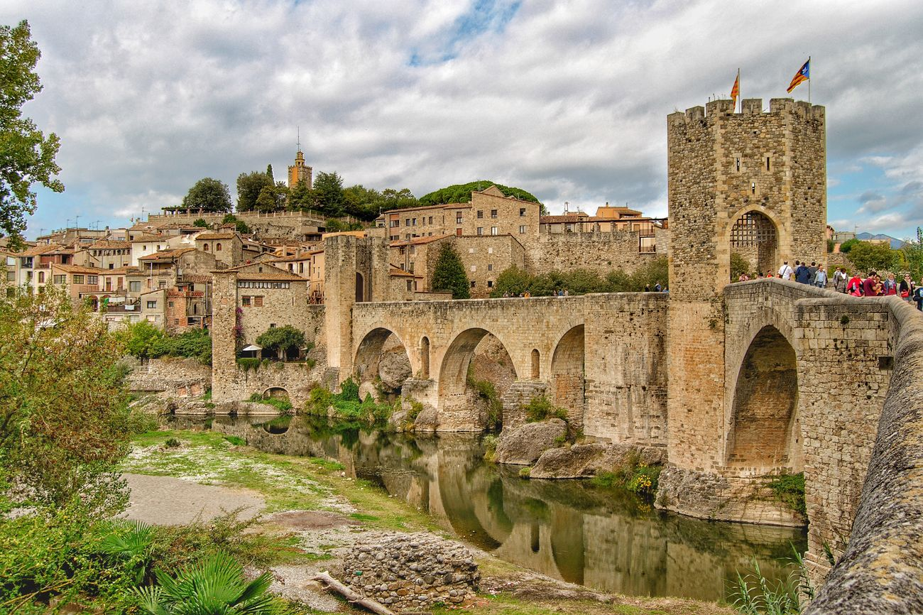 Architecture Travel Destinations History Tourism Famous Place Cloud - Sky Medieval HDR Besalú-Girona
