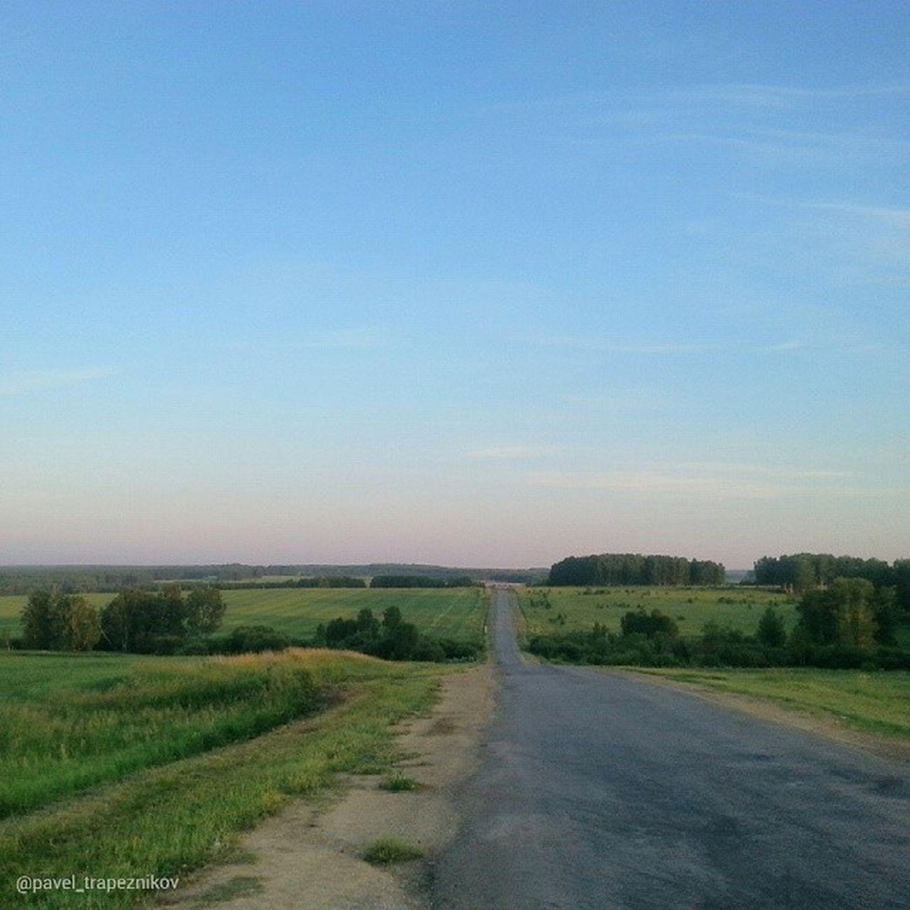 20140711 , НовосибирскаяОбласть . Сельская Дорога вечером/ Novosibirsk Region. Rural road in the evening.