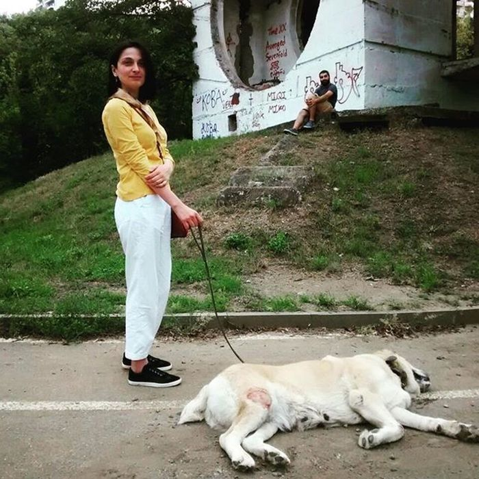 Jessie Gigi and Me Mziuri Park Late Summer Dog