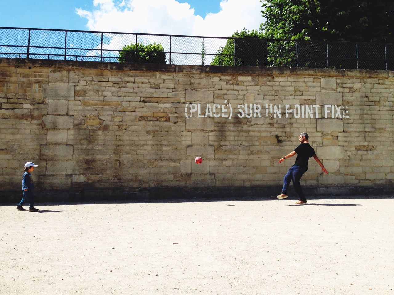 Enjoying Life Football Father & Son Kids Shadow Paris Check This Out Jardin Des Tuileries