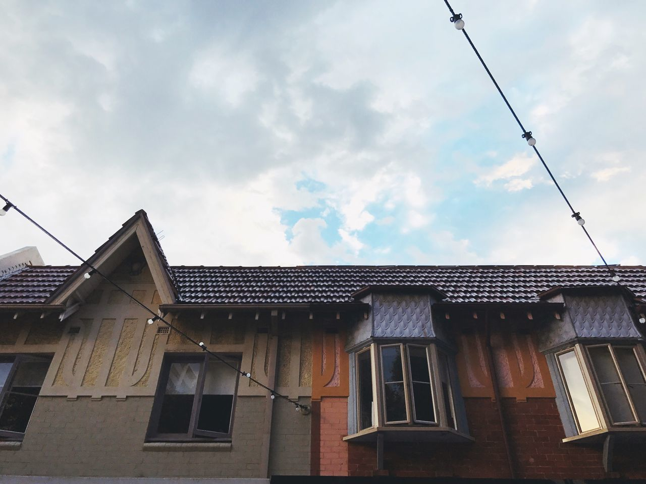 Building Exterior Architecture Sky Built Structure Low Angle View House Window Outdoors No People Residential Building Cloud - Sky Day