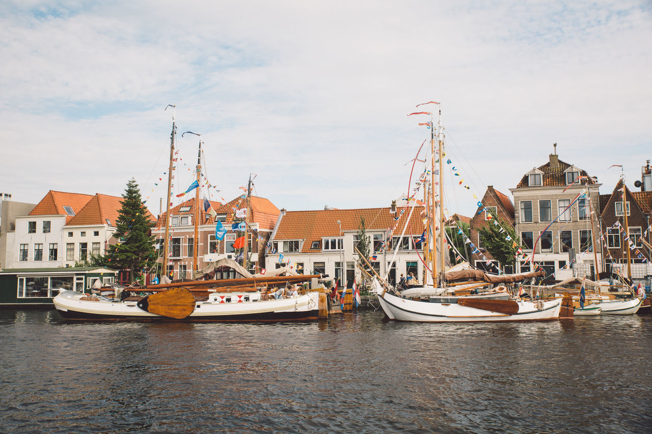 Architecture Haarlem Haarlemse Haarlemse Vaardagen 2017 Architecture Boat Boats Building Exterior Built Structure Canal City Cloud - Sky Cruise Day Dutch Harbor Mast Mode Of Transport Moored Nature Nautical Vessel No People Outdoors River Ships Sky Spaarne Transportation Vaardagen Water Waterfront Yacht