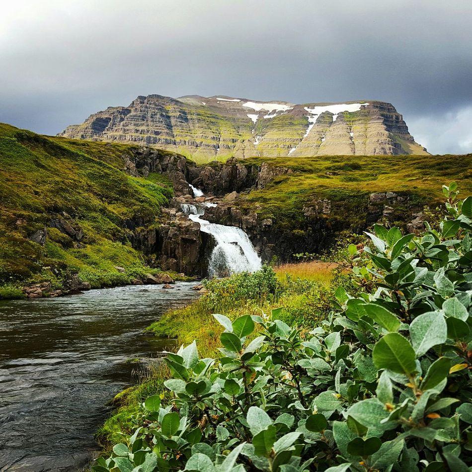 Nature Mountain River Waterfall Iceland_collection Loðmundarfjörður