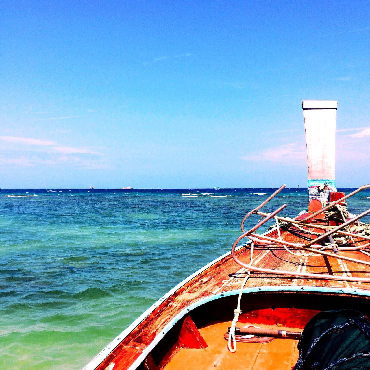 sea, transportation, nautical vessel, day, water, no people, mode of transport, outdoors, horizon over water, nature, blue, sky, beauty in nature