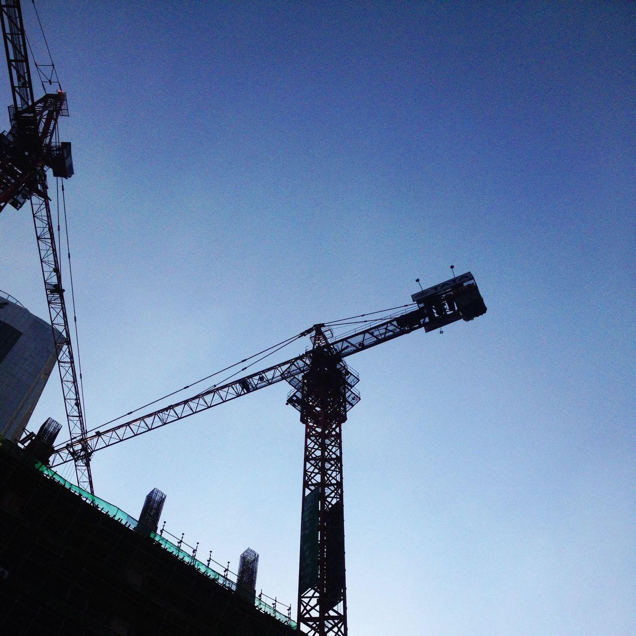 Crane. Cityscapes Jakarta Building Sky