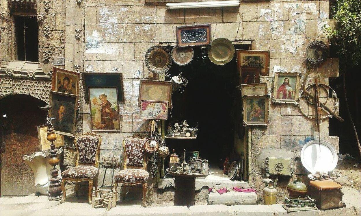 Old Cairo, Moez St., Cairo, Egypt :) A shop that sells old stuff :) No People Vintage shop Shop Old Town Old Cairo Egypt égypte Egyptian Bazaar Bazaar Bazar Moez Street Moezstreet Miles Away