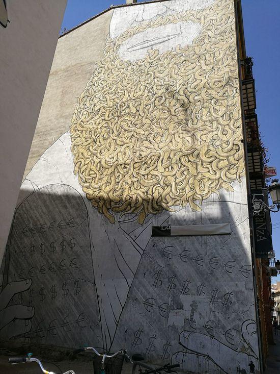 Graffiti in Valencia by Blu(italian artist)