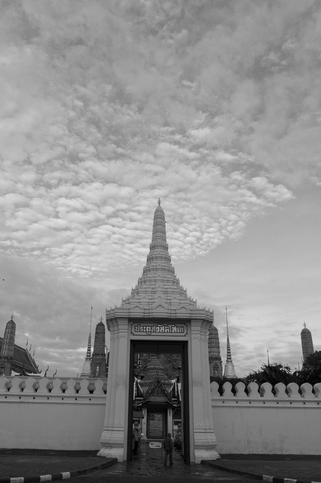 Architecture Built Structure City Cityscape Cloud - Sky Day Fog Grand Palace Bangkok Thailand King Bhumipol Adulyadet Outdoors Sky Vertical