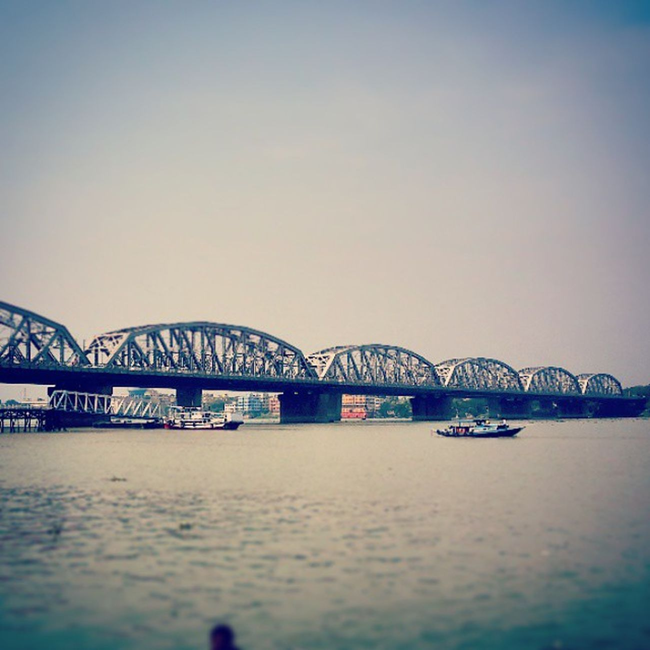 Nivedita Setu better known as Bally bridge Picturesque Ballybridge Or Niveditasetu Morning Shot Sokolkata Dakshineshwar Ghat Rail &road Sunnyday Warmday Kolkata Indiastories Picoftheday Instaclick Instaediting Instaeffect Instaupload Likeforlike Tagforlike Followforfollow