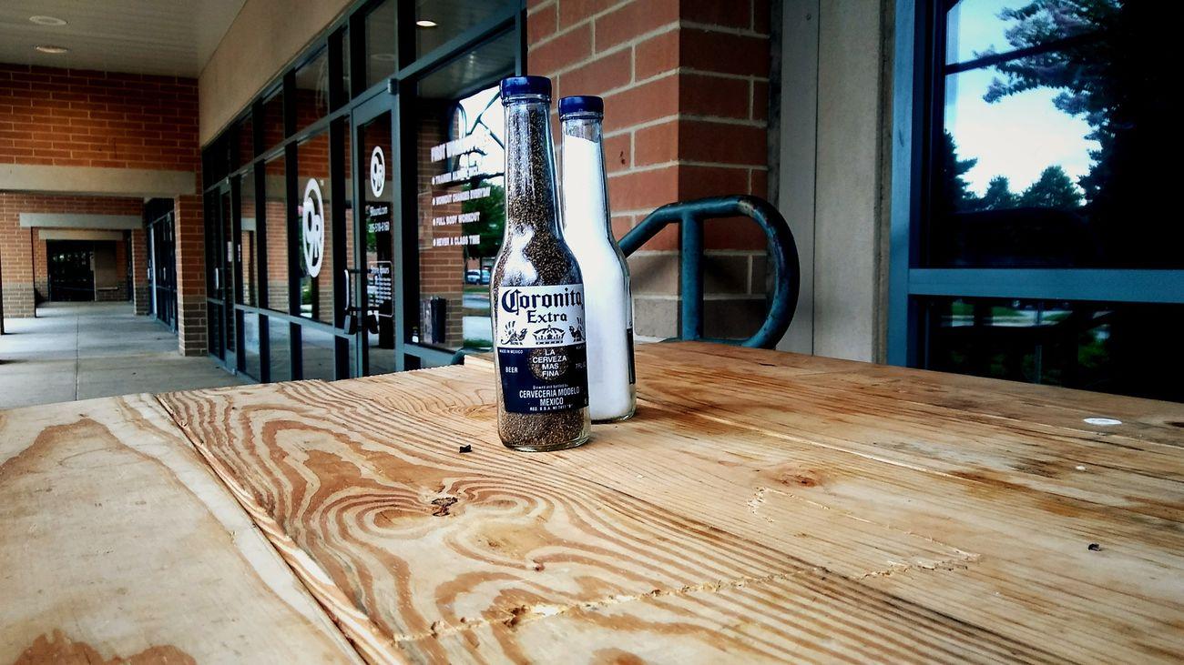 Corona Beer Picknickbench Salt&pepper