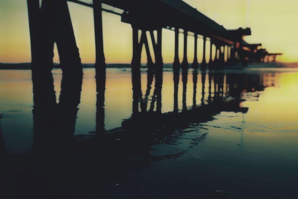 Pier Venice Beach Ocean California Reflection Sunset Shooting Eyeem Beach Shots Venicelife Scenics Colorsofthesky Atmospheric Mood EyeEm EyeEmNewHere