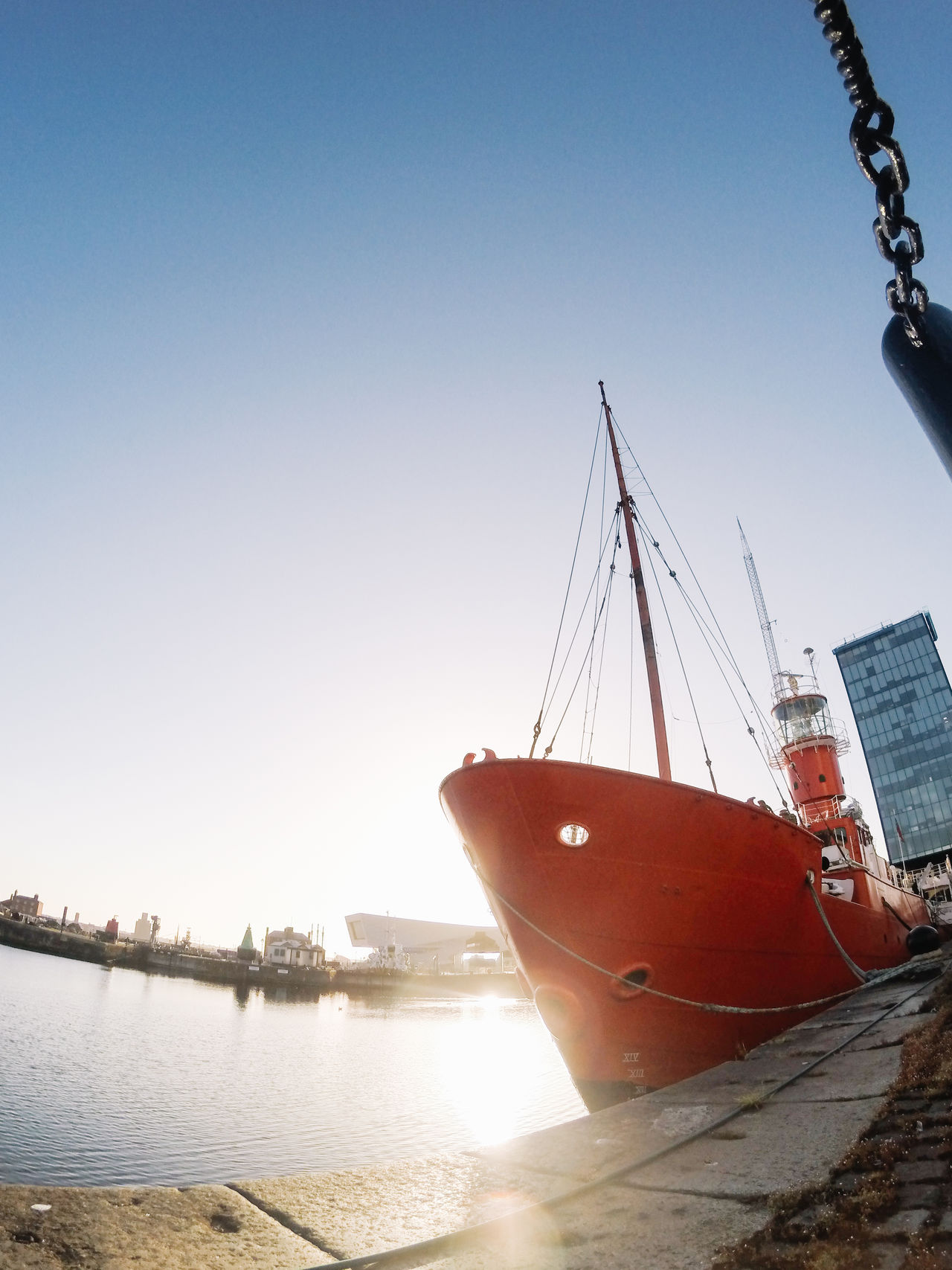 Albert Dock Day Great Britain Liverpool Liverpool, England My Year My View Nature Nautical Vessel No People Outdoors Red Red Ship Sailing Ship Sea Sky Water