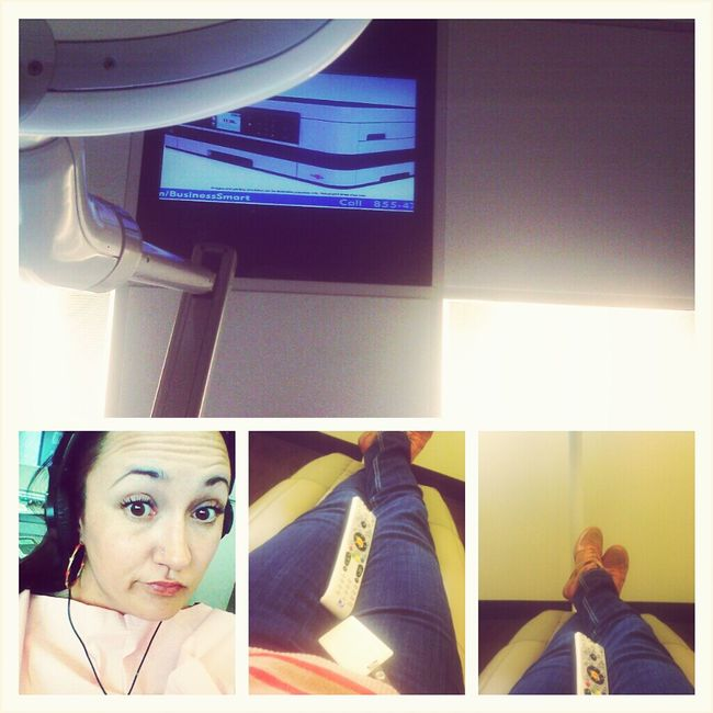TV on the ceiling-dentist time