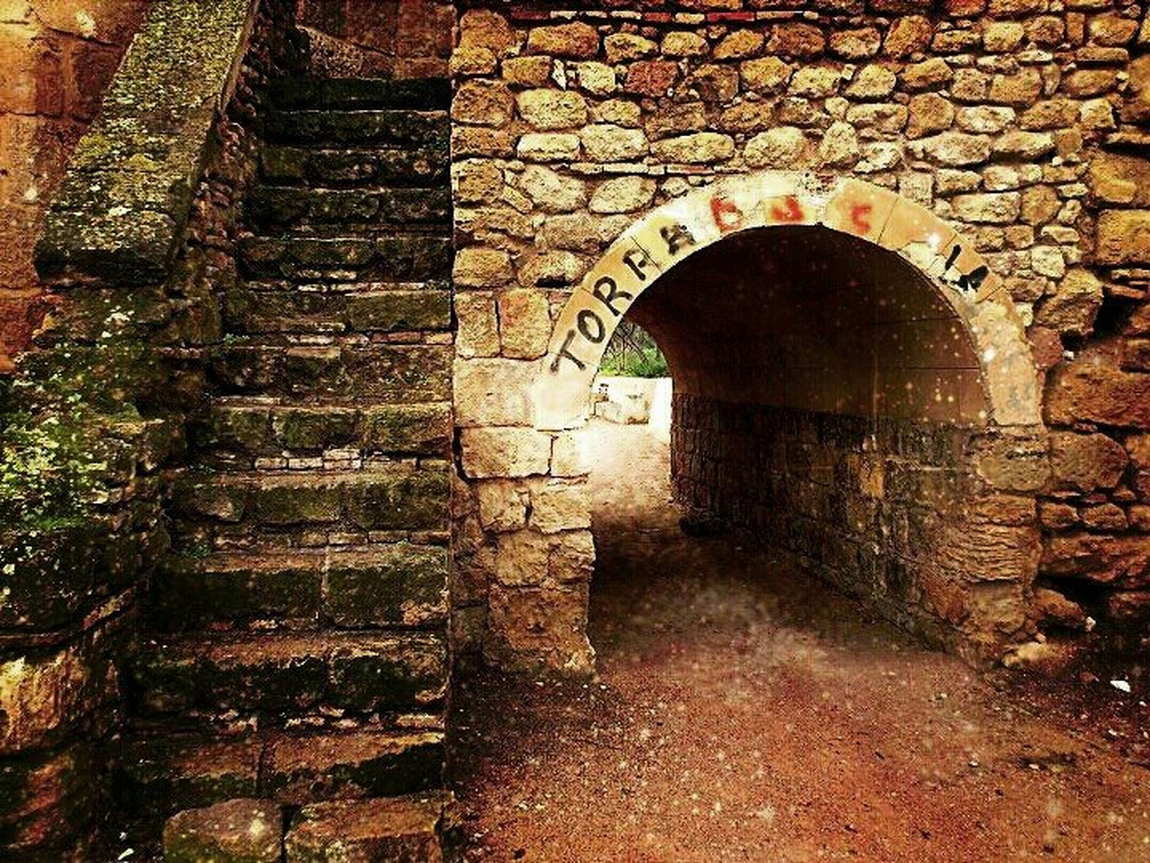 architecture, built structure, brick wall, building exterior, stone wall, arch, old, wall - building feature, wall, abandoned, weathered, entrance, day, outdoors, no people, brick, house, history, door, cobblestone