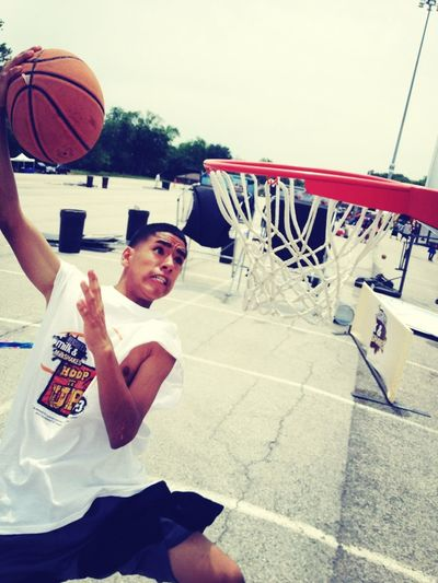 Dunkin on these hoes!