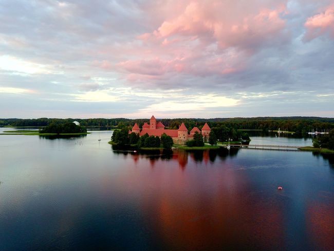 Sky and water is on fire Cloud - Sky Built Structure Sky Architecture Water Reflection No People Scenics Building Exterior Beauty In Nature Tranquil Scene House Nature Outdoors Tree Day Sunset