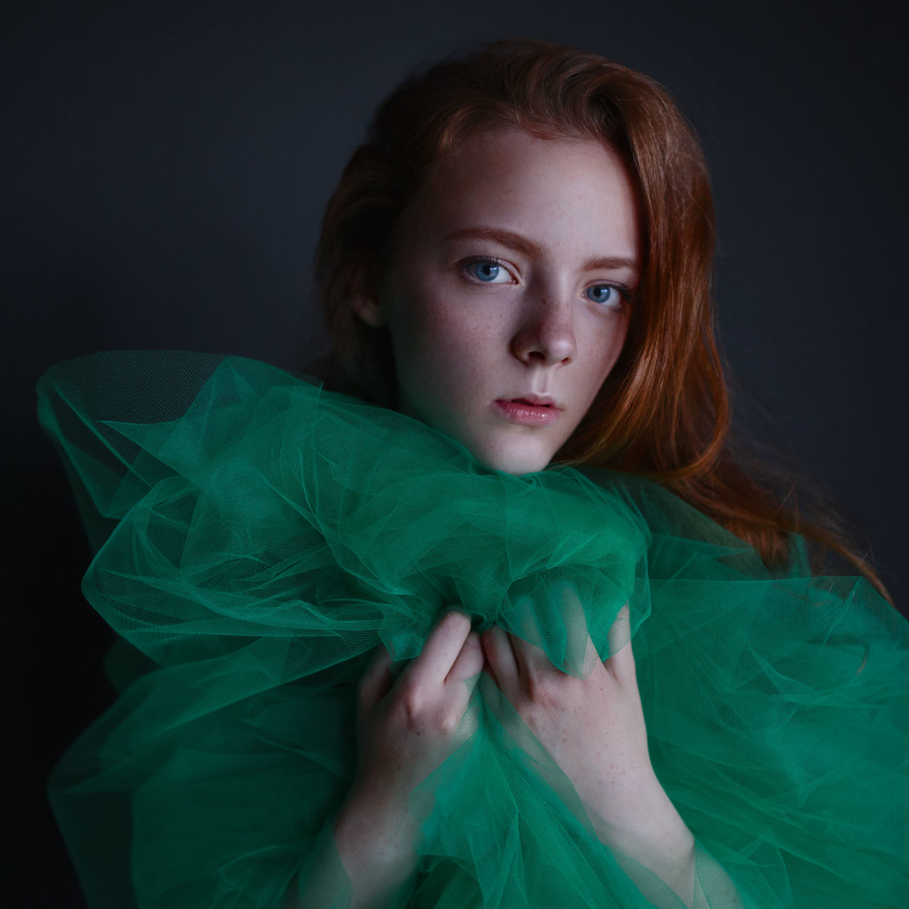 Ginger and honey https://www.instagram.com/eglelaurinavice/ Adult Adults Only Beautiful Woman Beauty Black Background Close-up Green Color Indoors  Looking At Camera Natural Light Portrait One Person One Young Woman Only People Portrait Portrait Of A Woman Real People Redhead Studio Shot Young Adult Young Women