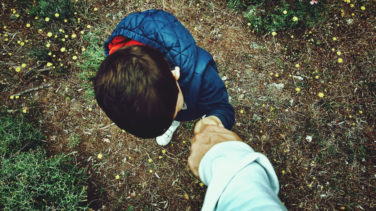 Father & Son Holding Hands View From Above Hold My Hand Son Hold On Tight From My Point Of View Holding Human Settlement Human Representation Little Boy Father Hands The Human Condition Let's Go Forestwalk Let's Go For A Walk Human Hand