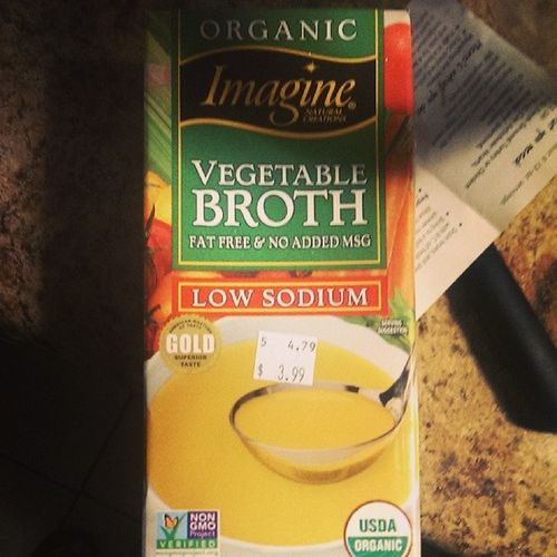 Nongmoproject Imaginefoods Lowsodium Vegetablebroth to add to my glutenfree frontiersoups