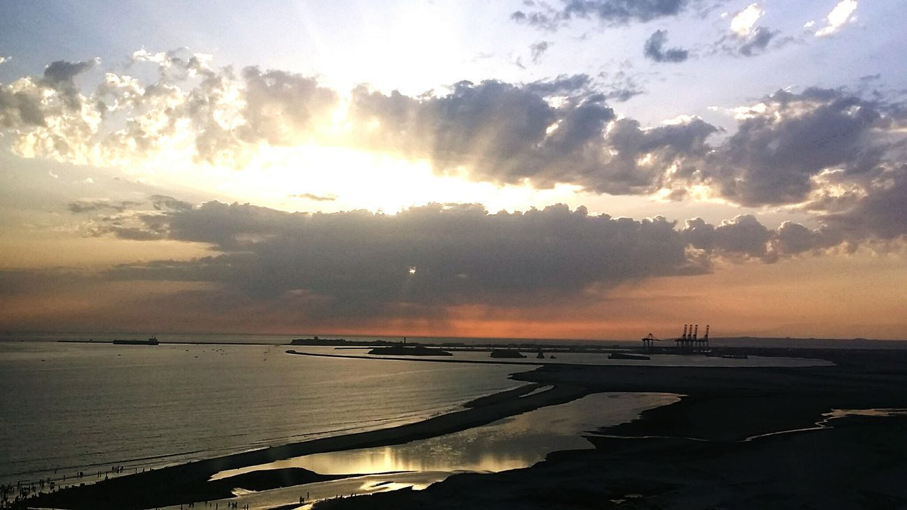 Karachi Sunset Beauty In Nature Sky Scenics Beach Sunlight Water Landscape Sea Cloud - Sky No People Reflection Tranquility Outdoors Nature Nautical Vessel Mountain Freshness Day City First Eyeem Photo