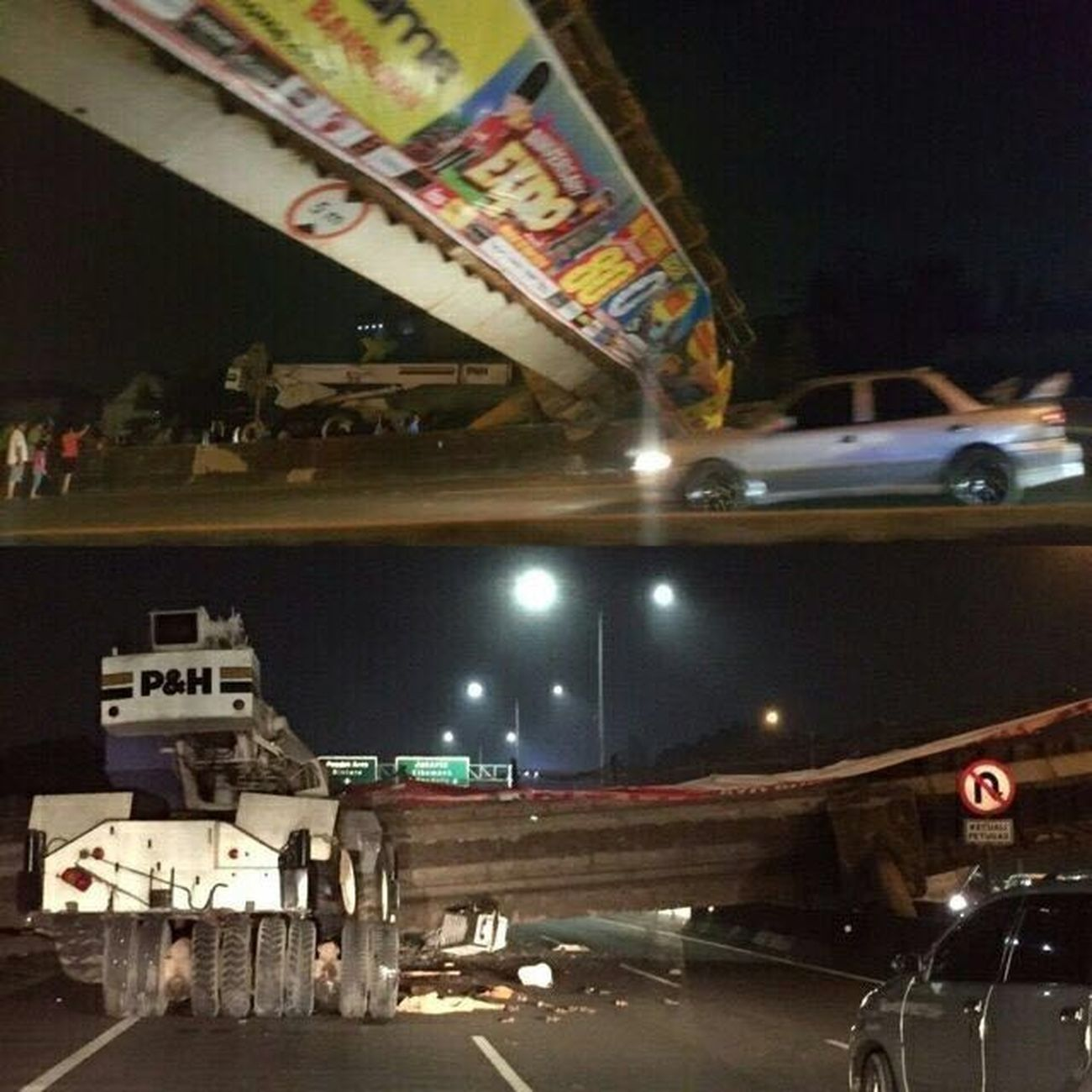 Crashed into the Bridge Jakartaheadline Now Bridgecollapse Freeways