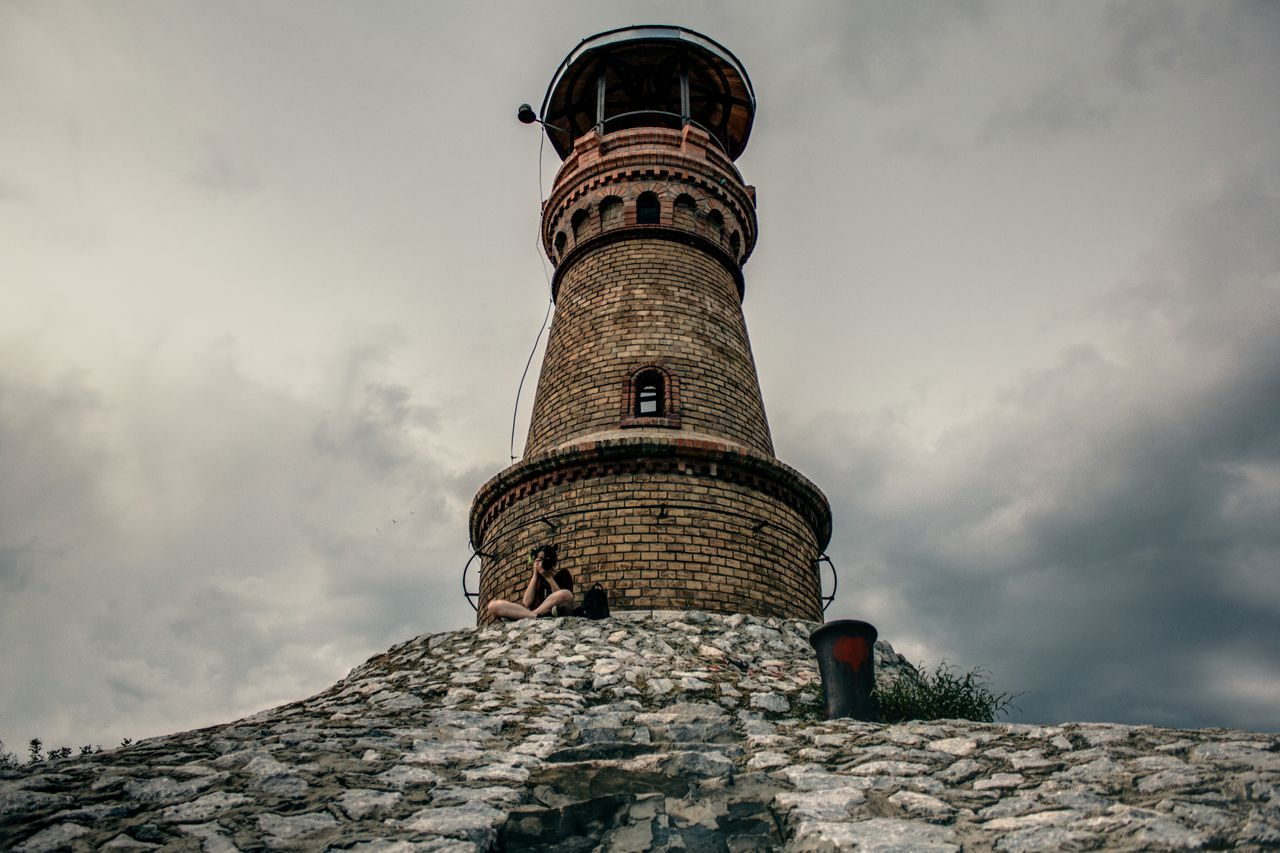 Architecture Built Structure Clouds HDR Lighthouse Low Angle View Outdoors River Serbia Sky Stones