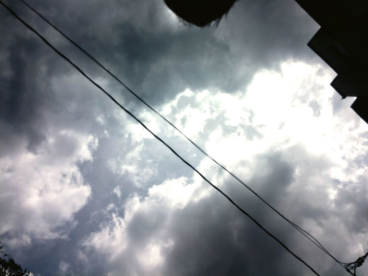 low angle view, cable, cloud - sky, sky, power line, nature, no people, day, outdoors, beauty in nature
