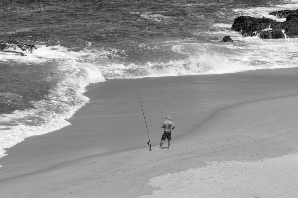 Beach Beachphotography Black & White Black And White Blackandwhite Blackandwhite Photography Bnw Eye4photography  EyeEm EyeEm Best Shots EyeEm Bnw EyeEmBestPics Monochrome Outdoors People People Photography People Watching Sea Seascape Seashore Seaside