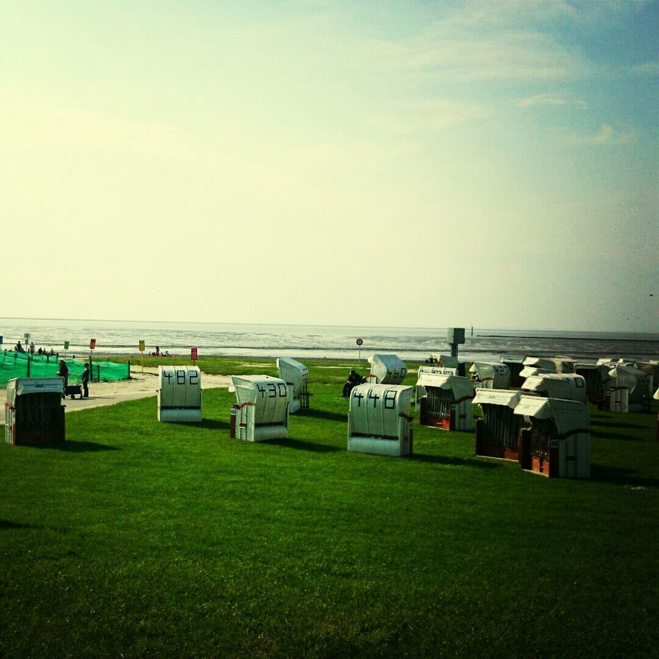 Cabins on the seashore