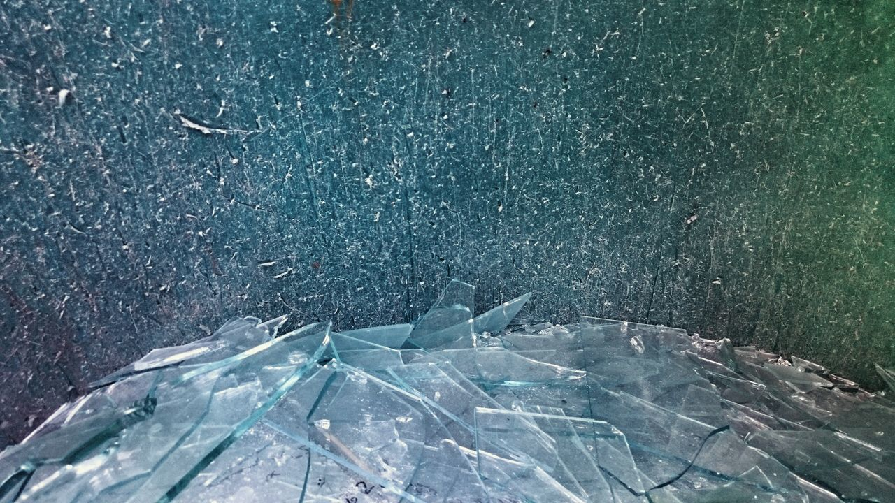 Container full of broken glass Glass Container Garbage Textures And Surfaces Abstract Compositon
