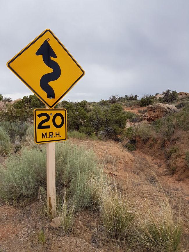 Feel The Journey Desert Desert Beauty Moab, Utah Nowhere Red Rocks  Desert Plants Road Signs Travel