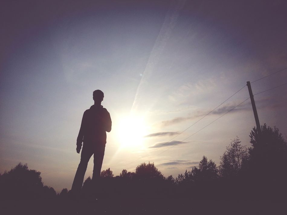 Beautiful stock photos of silhouette, Dusk, Front View, Full Length, Nature