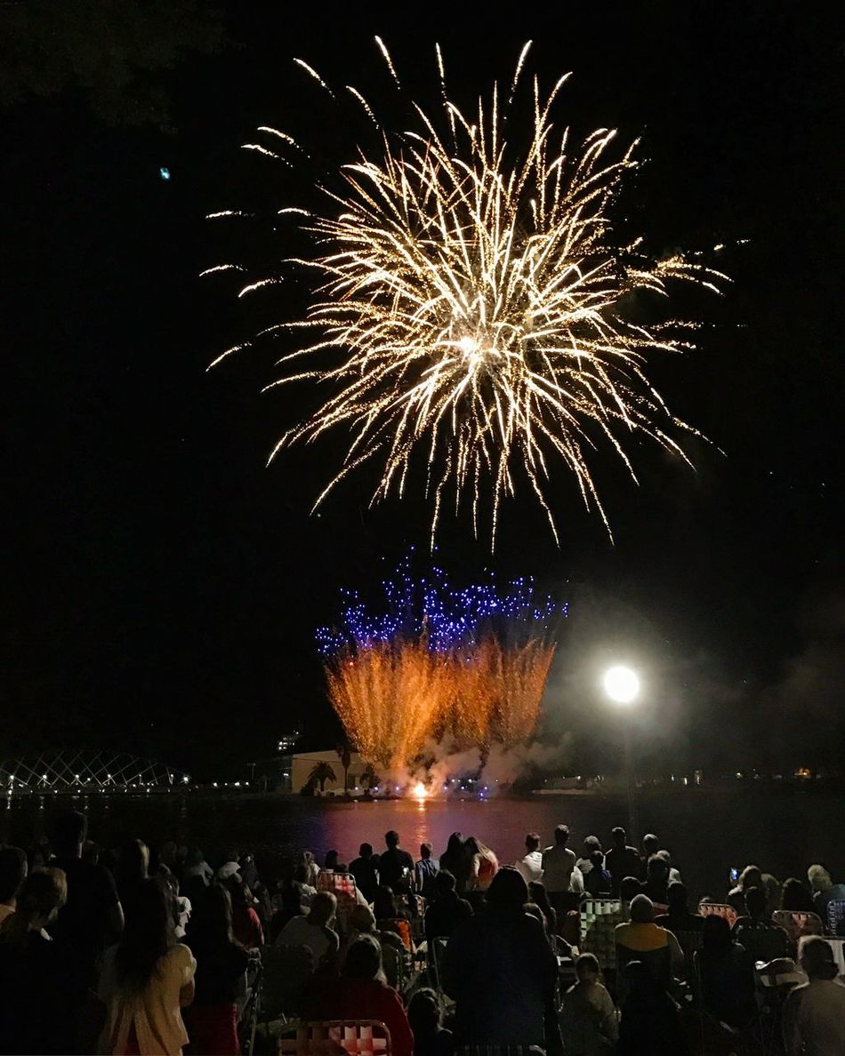Fireworks. Night Large Group Of People Celebration Firework Display Fire Fireworks Firework - Man Made Object Sky Multi Colored Event Crowd Group Of People People Outdoors Men Illuminated Firework Adults Only Adult