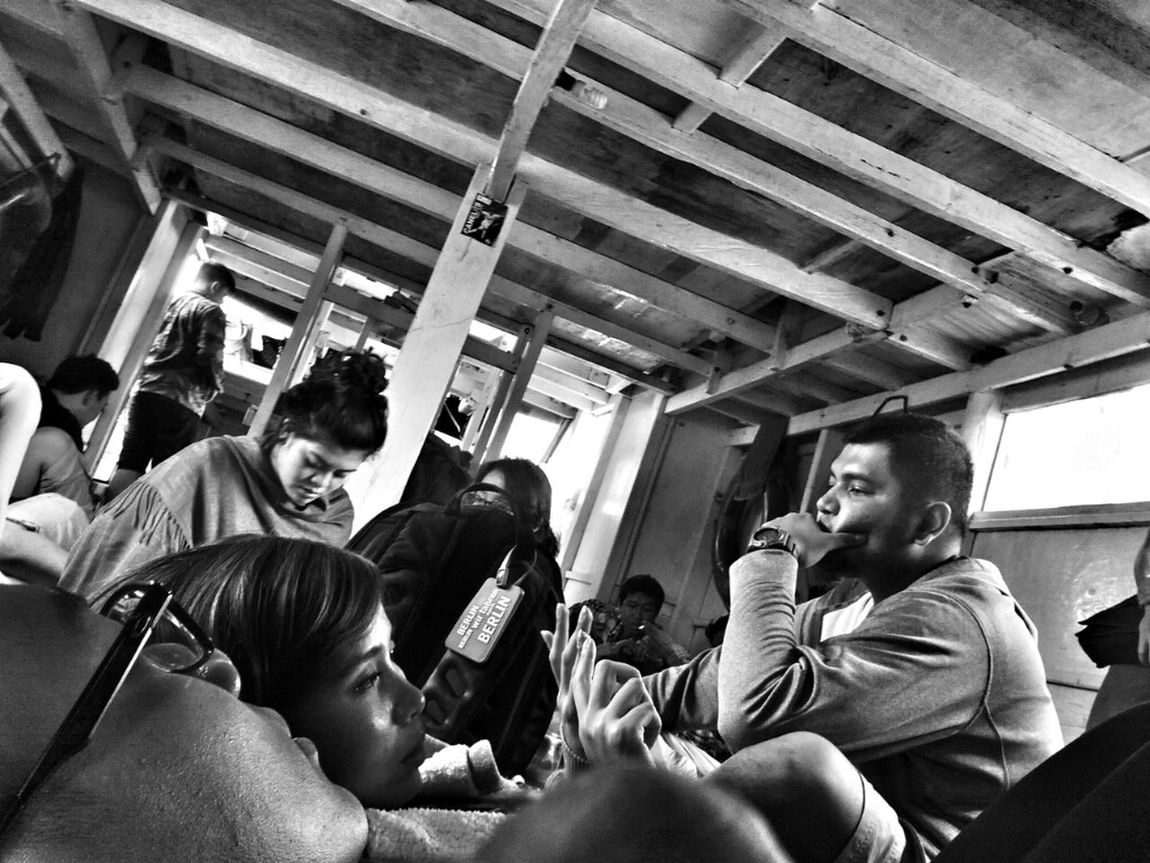 31 Dec 2012. In a traditional ferry to Pari Island, Kepulauan Seribu, Indonesia. Will spend the whole New Year's Eve there. Black And White Ferry