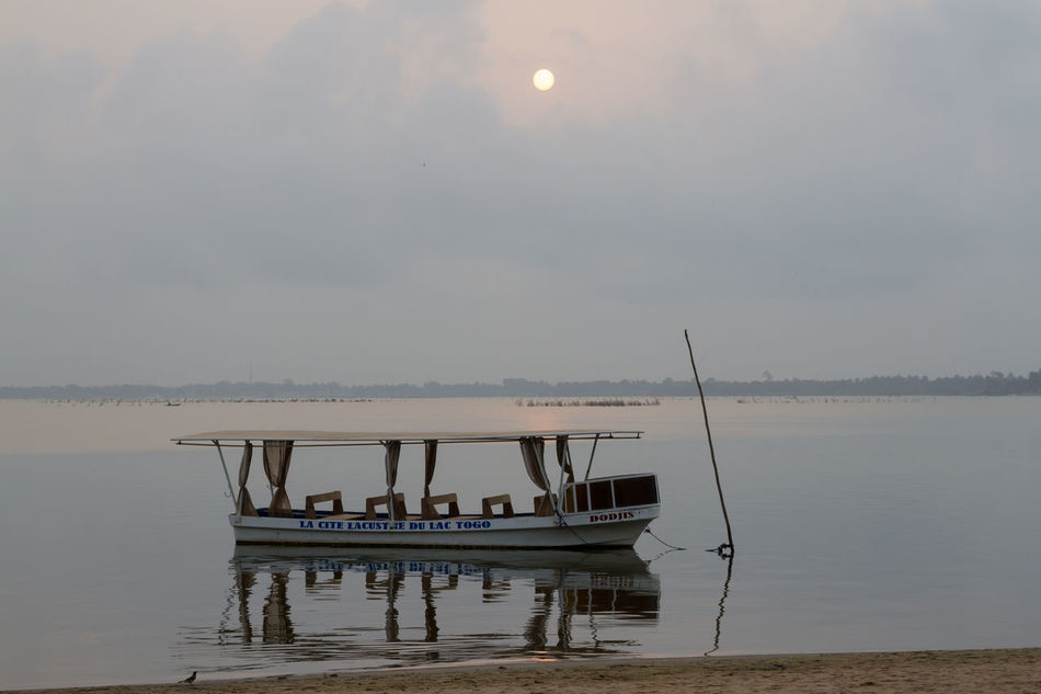 Sunrise over Lake Togo Africa Day Lake Nature No People Outdoors Scenics Sky Sun Togo Tranquility Water