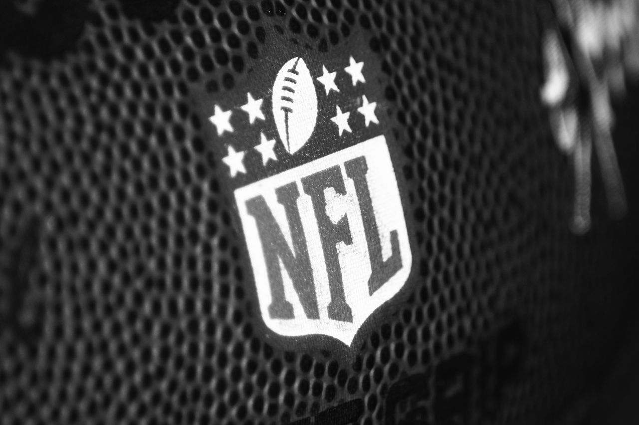 Blackandwhite Close-up Football Indoors  Information Sign NFL Football No People Text