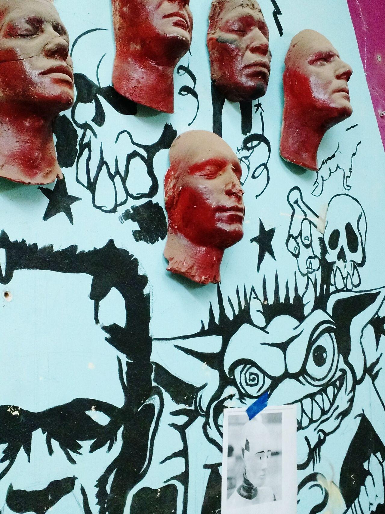 Caras Pintadas Rostros Sciencie Fiction Pelicula!! Estudio Arte Muro