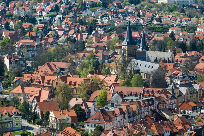 Buildings in Wernigerode, Germany. Church City Place Of Worship Relaxing Architecture Building Exterior Buildings Built Structure Day Harz Journey Outdoors Saxony Anhalt Tourism Town Travel Destinations Vacation