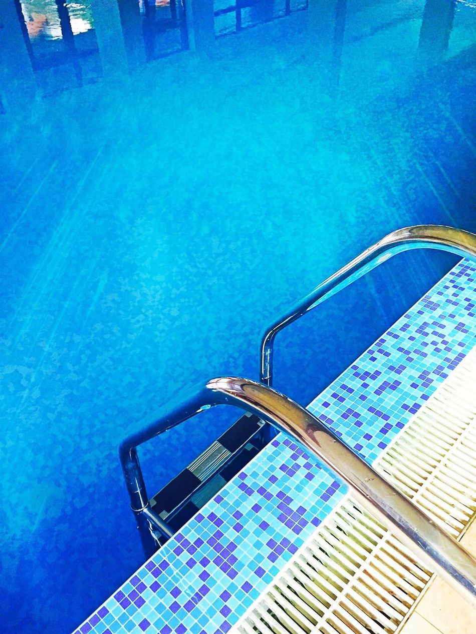 Swimming Pool Blue Water Poolside Turquoise Colored Pool Outdoors Vibrant Color Water Surface Pool Steps